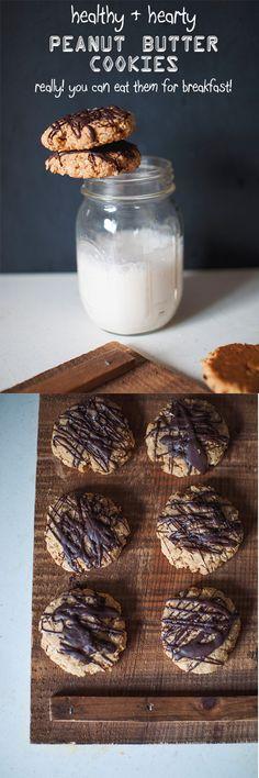 Healthy Peanut Butter Cookies -- suitable for toddler snacks . . . or adult breakfasts // neverhomemaker