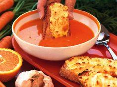 Morotssoppa med getosttoast Receptbild - Allt om Mat