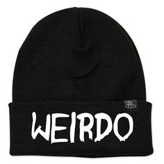 Teens will love this Weirdo Statement Beanie. Makes a great stocking stuffer for teens. #Christmas