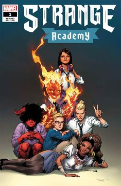 Strange Academy variant cover - Emily Bright and Doyle Dormammu by Jerome Opena, colours by Jason Keith * Marvel Comic Universe, Marvel Comic Books, Comics Universe, Marvel Dc Comics, Strange Adventure, Buffy The Vampire, Marvel Entertainment, Comic Book Covers, Comic Artist