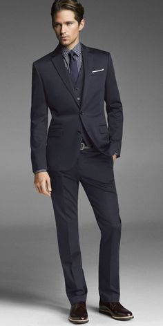 Express navy blue suit