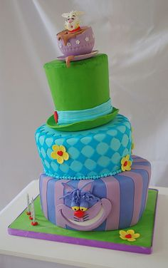 Melissa!! This would be perfect for our tea party in the summer!1 Mad Hatter Cake . . . another impossible thing to add to my list!  ;-)