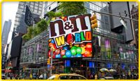 #AliRoSummer100 Everyone loves chocolate! Head to Times Square to see M World! Find your favorite from their floor to ceiling selection!