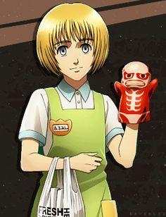 Aot Armin, Anime, Attack On Titan, Gifs, Cute, Shingeki No Kyojin, Kawaii, Cartoon Movies, Anime Music