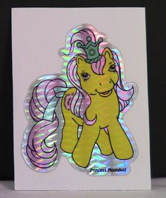 Early 1990's My Little Pony Princess Moondust Prism Sticker from Vending Machine