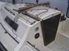 San Juan Sailboat - compass and depth sounder placement Sailboat Interior, Small Sailboats, Sail Boats, Compass, Sailing, Fishing, Interiors, Beach, Life