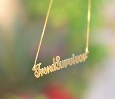 Personalize your style and wear your  name proudly around your neck!photo by @Trendsurvivor