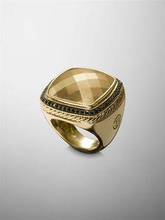 David Yurman - 20MM BLACK DIAMOND ALBION RING