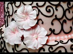 How to Make Royal Icing Apple Blossom Flowers by Cookies Cupcakes and Cardio - YouTube