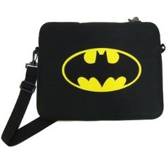 Keep all your Bat-gear safe with this officially licensed Batman messenger bag! Bag measures about 15'' x 12'' and features a long carry-strap, plus soft velour lining to help keep your gadgets safe and secure. Exterior is made of neoprene. Officially licensed.