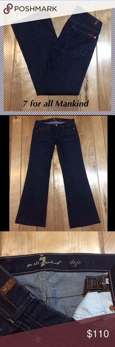 "NWOT 7 for all Mankind Dojo jeans size 29 x 30.5"" 7 for all mankind Dojo wide leg flares in Mercer wash • 30.5"" inseam, 8"" rise, 15.5"" across waist, 21"" leg opening • 98% cotton, 2% lycra • Brand new without tags!! 7 For All Mankind Jeans Flare & Wide Leg"