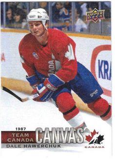 Dale Hawerchuk Canvas Team Canada Canadian Tire Upper Deck TCC-54 2017-18  #TeamCanada