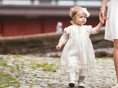 Silk Christening Gown Baptism Dress  Hair by ALINABabyClothes