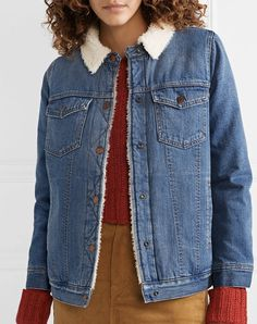 Vintage Fashion Tips Best Spring Jackets Madewell Denim Sherpa Jacket Cool Outfits, Summer Outfits, Floaty Dress, Madewell Denim, Floral Blazer, Fashion Wallpaper, Spring Weather, Spring Jackets, Spring Fashion Trends