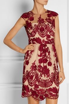 Marchesa Notte Embroidered tulle dress NET-A-PORTER.COM