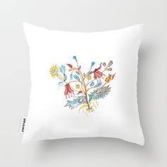 Throw Pillow Cover  ♥ Free shipping in Europe* ♥ Unique hand drawn design print ♥ Each pillow design has a cute story behind ♥ Hand made using a fabric 100% cotton ♥ Each pillow includes a  hidden zipper enclosure
