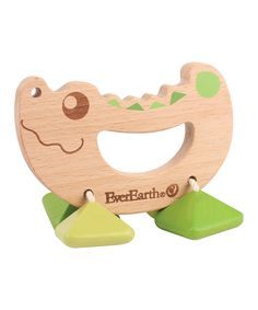 This Alligator Wood Rattle by EverEarth is perfect! #zulilyfinds