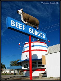 Beef Burger - Amarillo, Texas by Vintage Roadside, via Flickr