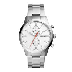 Fossil Townsman - Men Wrist Watch on YOOX. The best online selection of Wrist Watches Fossil. Stainless Steel Watch, Stainless Steel Bracelet, Fossil Watches For Men, Michael Kors, Seiko Watches, Casual Watches, Quartz Watch, Chronograph, Bracelet Watch