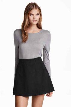 Spódnica z imitacji zamszu | H&M