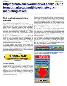 multi-level-networkmarketinghaveyougotwhatittakesnew by retrofaz via Slideshare