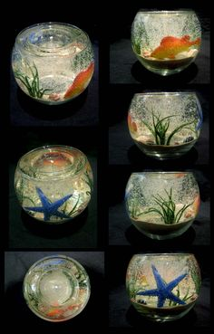 Aquarium Gel Candle