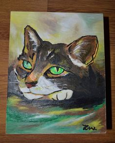 Unique Custom Wood Casket Memorial Urn for Cat's ashes Hand painted made to…