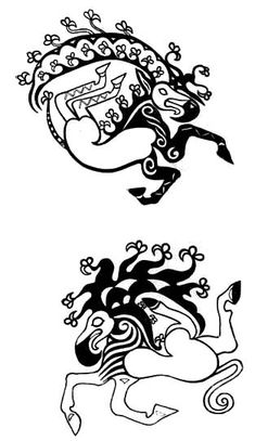 Scythian - Pazyrk Tattoos I have the beastie on the bottom on my left arm.