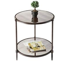 Metalwork's Pewter and Gold Side Table | 55DowningStreet.com