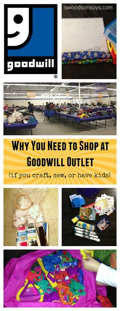 Why You Should Shop at Goodwill Outlet (If You Sew or Craft) -- What one looks like, how it works, and why I love them! Swoodsonsays.com