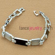 Nice  cat eye and rhinestone decorsted bracelet
