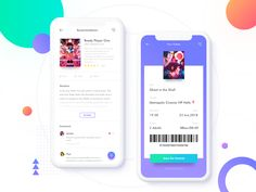 Cinema by Amiko for Reborn Design on Dribbble Mobile Ui Design, App Ui Design, User Interface Design, Web Design, Mobile App Ui, Mobile Covers, Mobile Application, Iphone, Graphic