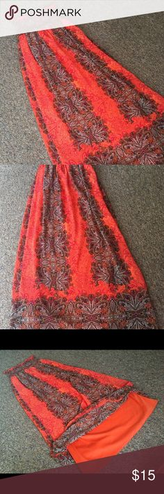 Dress Peach and wood-brow Strapless dress Rue 21 Dresses Strapless