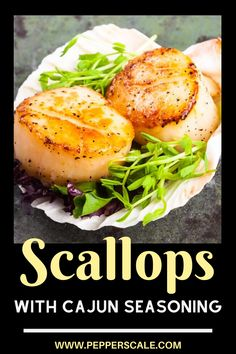 A Spicy Kitchen Staple - Cajun Seasoning! Add cajun seasoning to your scallops for a kick. #scallops #cajun #cajunscallops #spicyseafood Chipotle Recipes, Fish Recipes, Seafood Recipes, Mexican Food Recipes, Ethnic Recipes, Spicy Grilled Shrimp, Spicy Steak, Homemade Seasonings, Cajun Seasoning