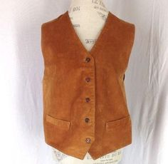 Arizona Jean Co Brown Suede Vest XL 16-18 Tan Leather Western 1X Vintage Womens #ArizonaJeanCo