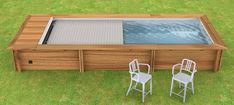 Shipping Container Swimming Pool, Outdoor Furniture Sets, Outdoor Decor, Led Lamp, Aluminium, Swimming Pools, Home Decor, Inspiration, Small Spaces