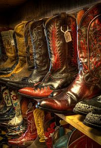 Vintage Cowboy Boots at the Wild West Store, Wimberly, Texas. Cowboy And Cowgirl, Cowgirl Boots, Cowboy Hats, Cowboy Boot, Cowboy Gear, Western Wear, Western Boots, Cowgirls, Danse Country