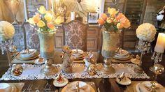 Elegant Golden Easter Table   Life and Linda -Blog Design ...