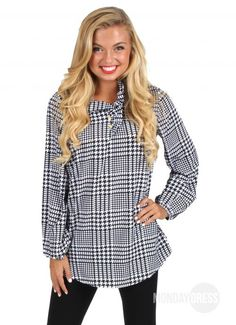 Be Real Houndstooth Tunic   Monday Dress Boutique