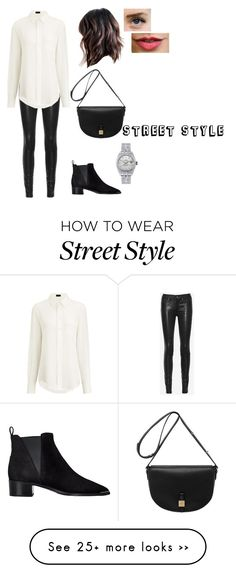 """street style"" by readytorunsaints on Polyvore featuring rag & bone/JEAN, Joseph, Mulberry, Acne Studios and Rolex"