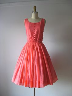 vintage 1950s dress / 50s party dress / Pink Soiree by Dronning, $135.00