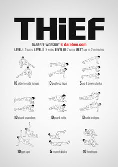 A total body strength, power and agility workout that, in the past, would make you a great thief. Body Fitness, Fitness Video, Football Workouts, Volleyball Workouts, Volleyball Quotes, Volleyball Gifts, Volleyball Training, Wii Fit, Plyometric Workout