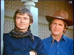 """Alias Smith and Jones--Hannibal Heyes and Kid Curry, two of the most wanted outlaws in the history of the West, are popular """"with everyone except the railroads and the banks"""", since """"in all the trains and banks they robbed, they never shot anyone"""".--I LOVED THIS WESTERN SHOW"""