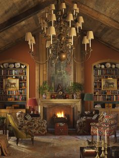 Rich, Warm and Rustic Living Room! Br House, English Interior, English Country Decor, French Country, Home Decoracion, English House, English Style, Home Libraries, Beautiful Interiors