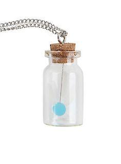"<p>Silver tone chain necklace from The Legend Of Zelda with bottled Navi pendant.</p>  <ul> <li>18"" chain; 3"" extender; 1 1/2"" pendant</li> <li>Metal</li> <li>Imported</li> </ul>"