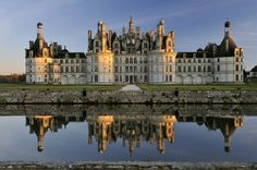 Château de Chambord is a huge French Renaissance palace in the Loire valley, built from 1519-47 for King Francis I