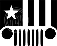 Digital Download Jeep Stars and Stripes SVG DXF EPS Silhouette Studio Cricut Design Space  These files are ready to use with most major