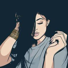 Black Girl Art, Black Art, Art Girl, Black Love, Trill Art, Illustrations, Illustration Art, Dope Cartoons, Dope Art
