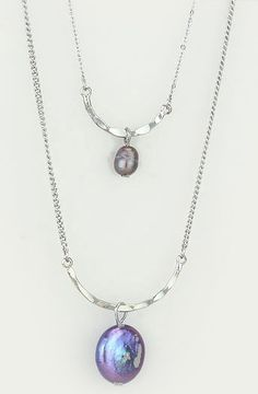 Blue Pearl Ova Necklace
