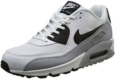 Nike Womens Air Max 90 Essential WhiteBlackWolf Grey Running Shoe 75 Women US -- See this great product.